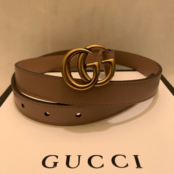 05dbb0a18 Accessories | Gucci Dusty Pink Leather 08 Gold Gg Buckle Belt | Poshmark